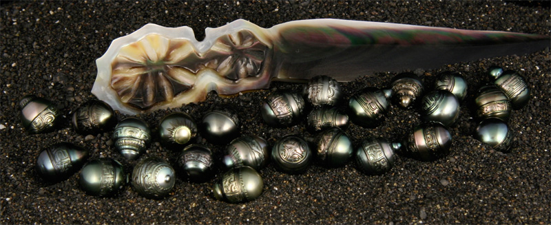 tahitian designs carved black pearls. Black Bedroom Furniture Sets. Home Design Ideas